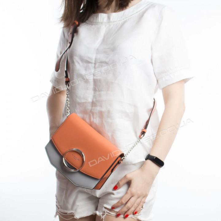 Клатч 6228-2 orange-light gray